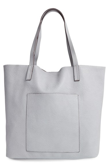 Street Level Faux Leather Pocket Tote  $48