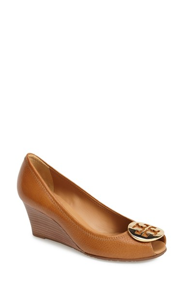 Tory Burch 'Sally 2 Peep Toe' Wedge $265