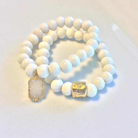 Stackable Bone Bracelets $30 each