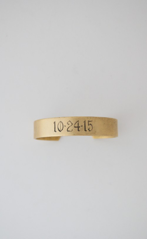 Engraved Date Cuff $69
