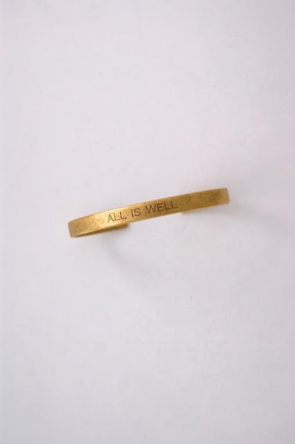 All Is Well Cuff $58