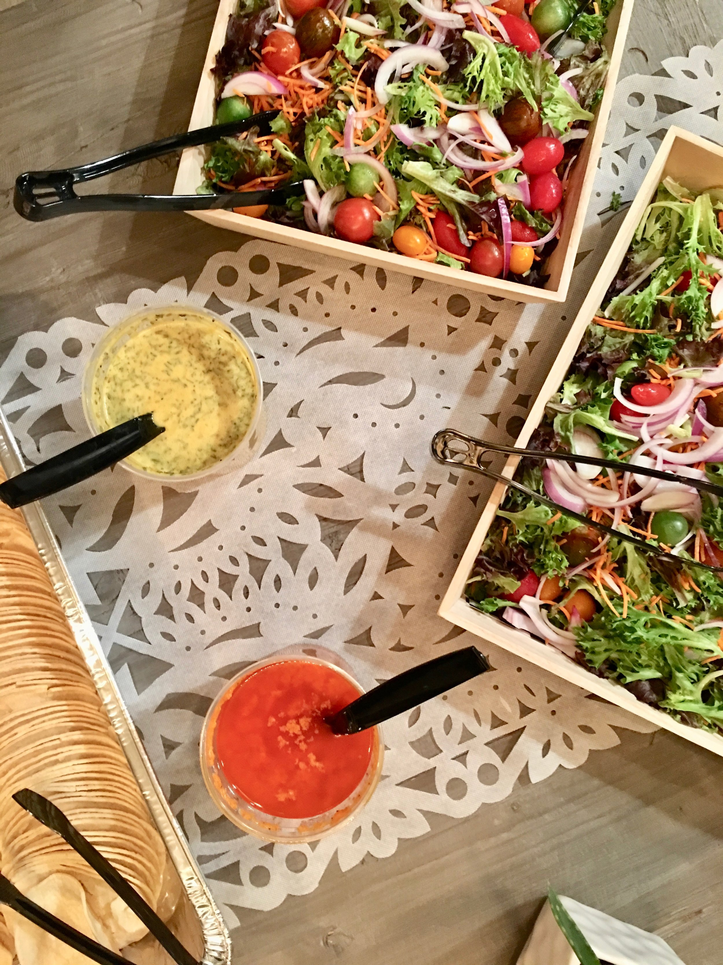 Chic Mexican Fiesta salad and tortillas