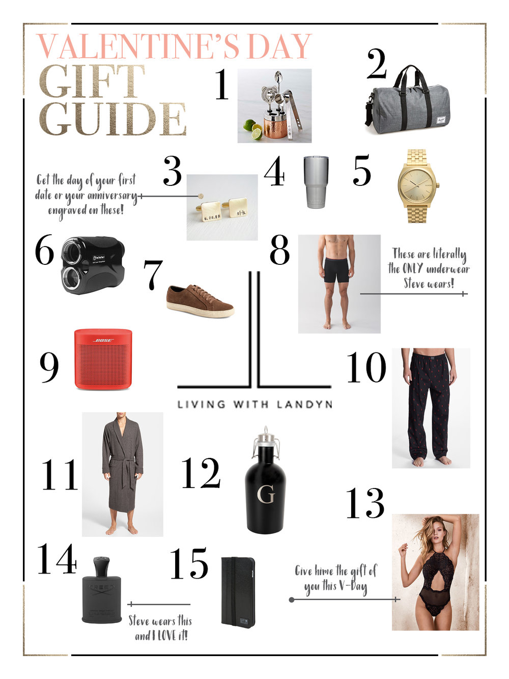 LWL Valentines Gift Guide for Guys