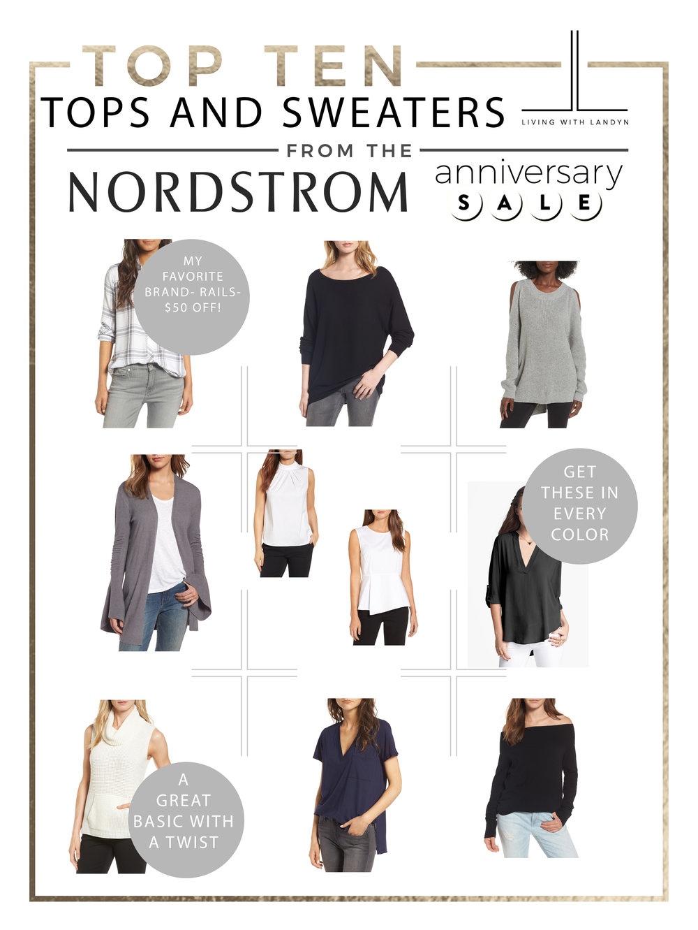 TOP 10 TOPS AND SWEATERS FROM THE ANNIVERSARY SALE