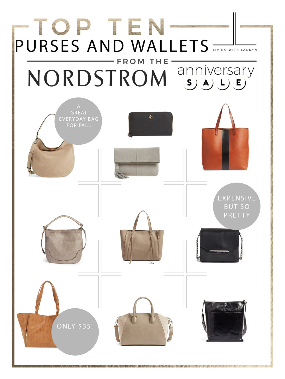 TOP 10 PURSES AND WALLETS FROM THE NORDSTROM ANNIVERSARY SALE