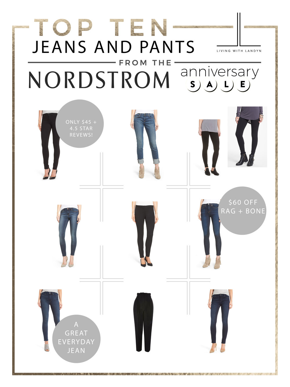TOP 10 JEANS AND PANTS FROM THE NORDSTROM ANNIVERSARY SALE