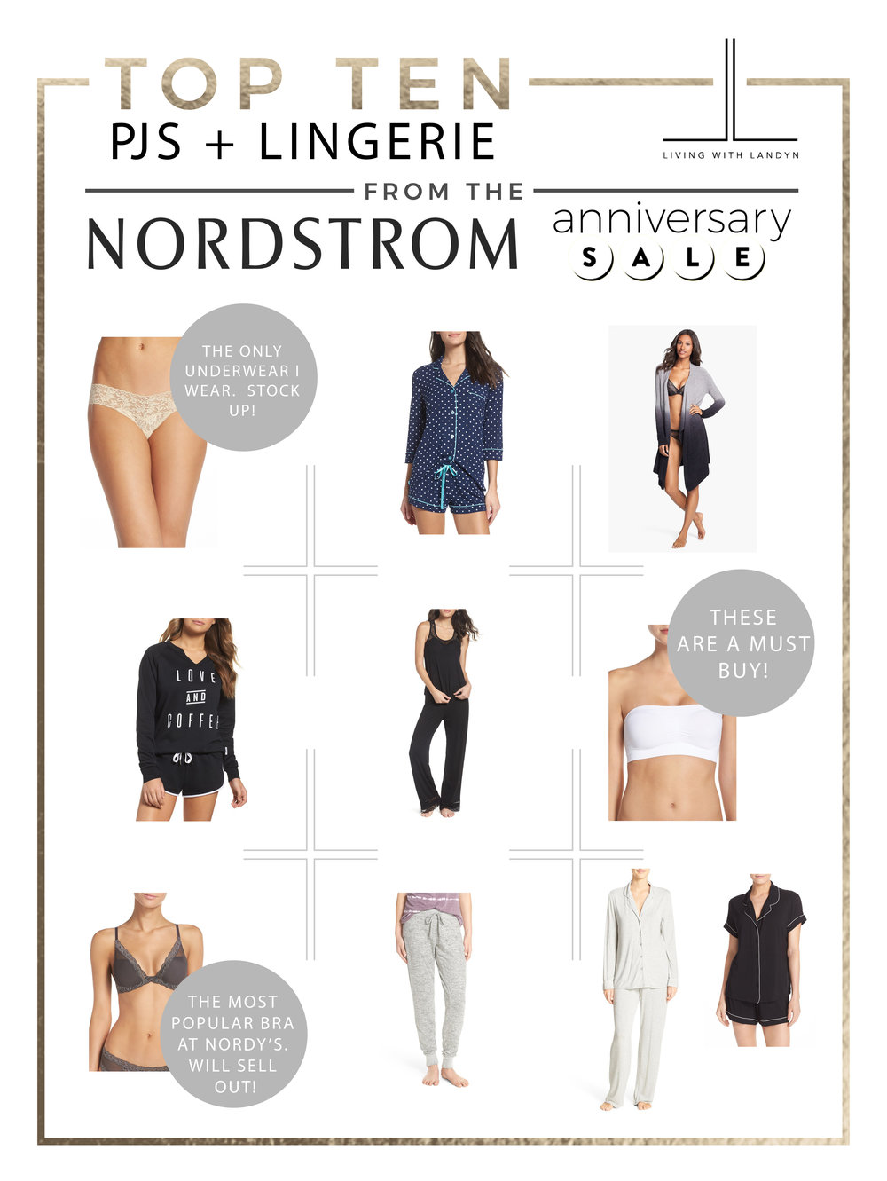 TOP 10 SLEEPWEAR AND LINGERIE PICKS FROM THE NORDSTROM ANNIVERSARY SALE