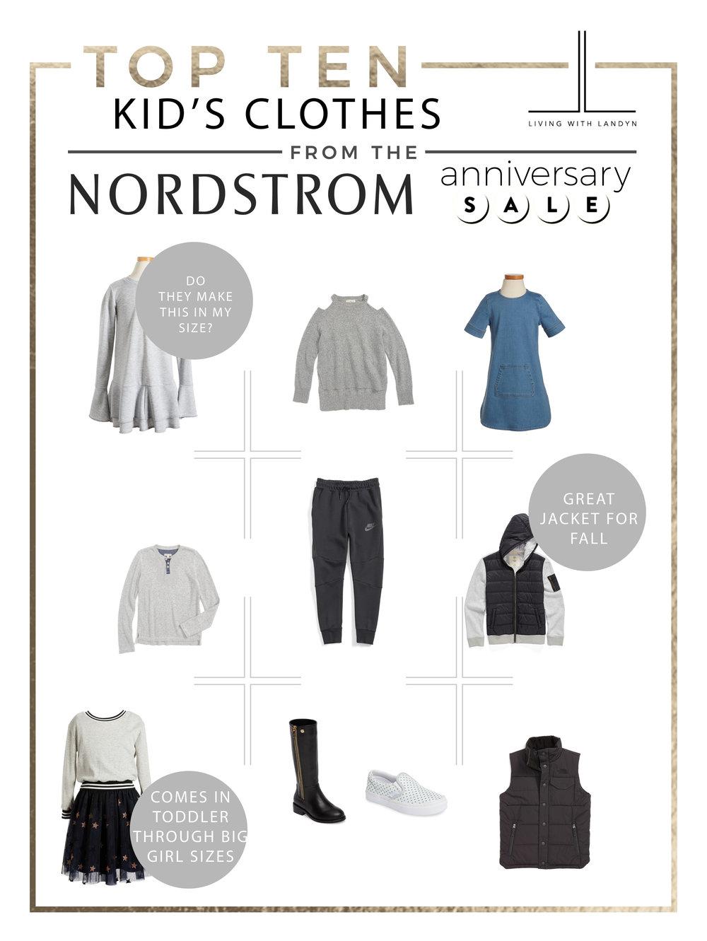 TOP 10 PICKS KIDS CLOTHES NORDSTROM ANNIVERSARY SALE