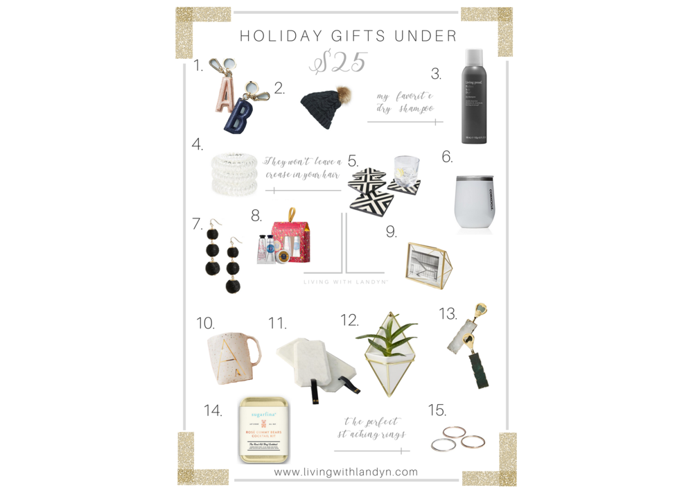CHRISTMAS GIFT IDEAS UNDER $25, CHRISTMAS GIFTS LESS THAN $25