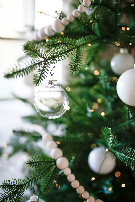 clear glass ornaments on kitchen tree.jpg