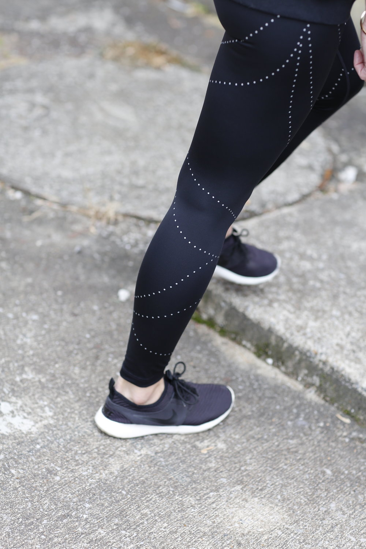 zella aero reflective running leggings