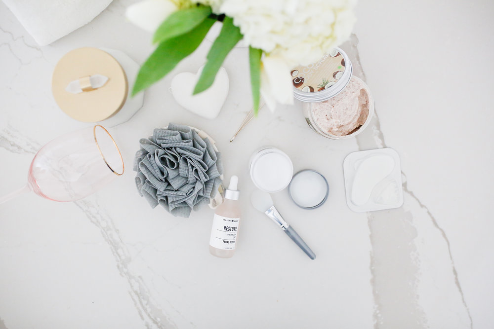 products you need for an at home spa day