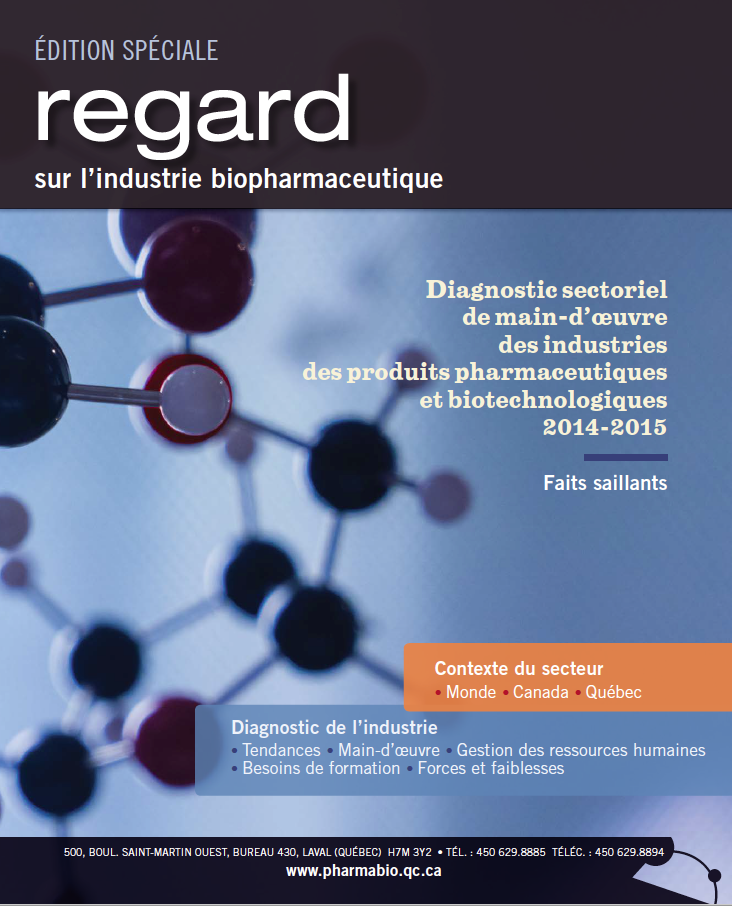 Diagnostic sectoriel de main-d'oeuvre des industries des produits pharmaceutiques et biotechnologiques 2014-2015