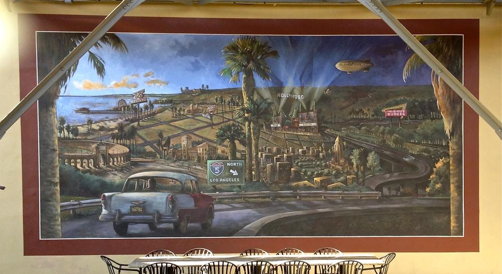 Vintage LA Mural Citadel Outlets Food Court
