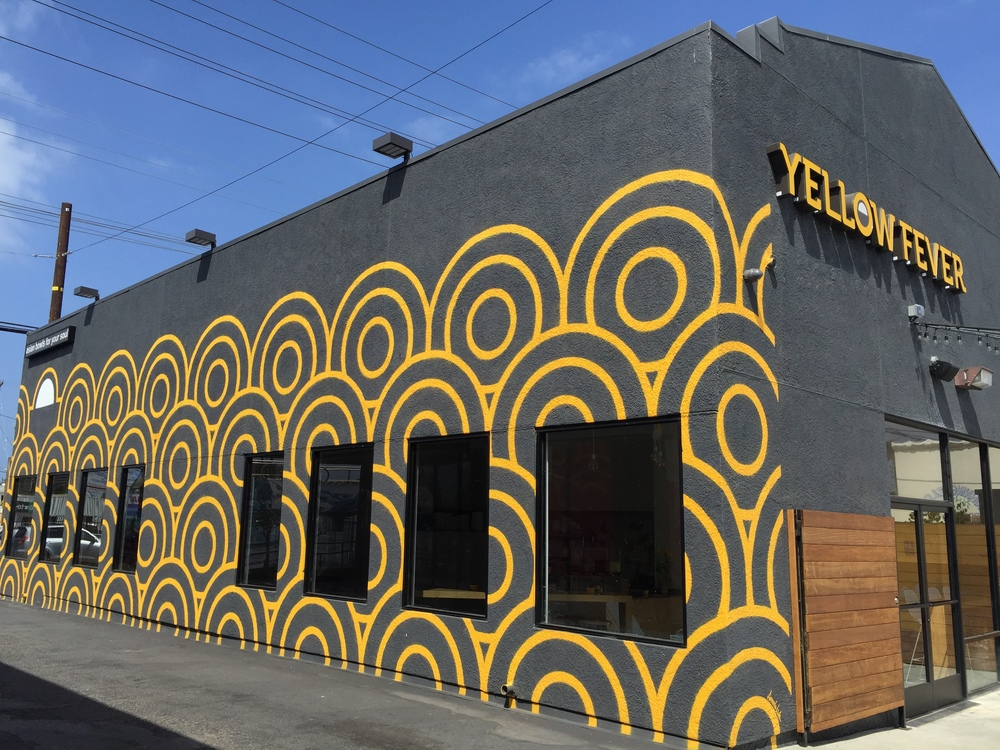 Commercial Mural with Stencil - Yellow Fever, Venice