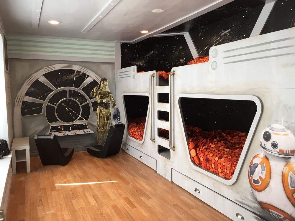 Star Wars inspired Kids Room with Licensed Disney decals