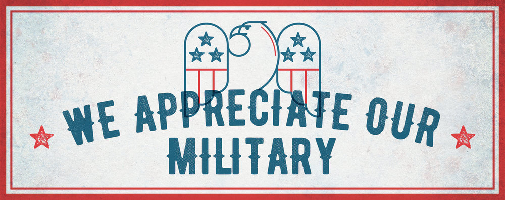 Show your military ID at the following retailers and receive discounts on your purchases:  AT&T 15% off all plans.* Blazing Onion 10% off entire purchase.* Corner Bakery 10% off entire purchase.* Jersey Mike's 10% off entire purchase.* MOD Pizza 15% off entire purchase.* Old Navy 10% off entire purchase.* Sierra Trading Post 10% off entire purchase.* Silverdale Smiles Dentistry and Orthodontics Proudly accepts Tricare dental insurance.* Total Wine 10% off liquor and wines.* Verizon 15% off all plans.* *All offers valid at The Trails at Silverdale store locations only through 12.31.17. Must present valid Military ID at the time of purchase. Not valid with any other offer; may exclude sale/discounted items unless specified by the store. No cash value. One discount per transaction, per day. Not valid on the purchase of gift cards, charity items or previously purchased merchandise. Offers subject to change or cancellation. See participating stores and restaurants for details. Additional exclusions may apply.
