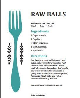 Raw Balls Recipe by Sadie Roy