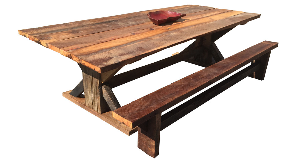 The Barnwood Dining Table Osleeper MFG Co - Barn wood picnic table