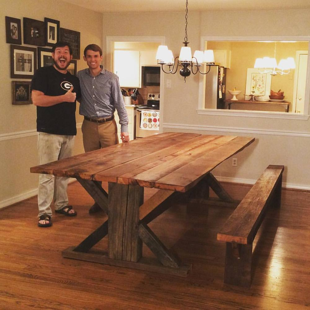 Barnwood Kitchen Table + bench.jpg