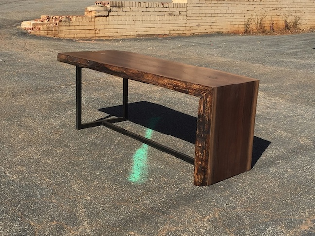 Walnut Waterfall coffee Table. Dallas TX.JPG