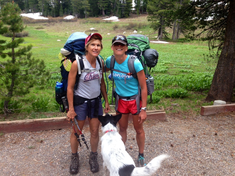 hannah banana and her mother after backpacking On the Pacific Crest Trail.