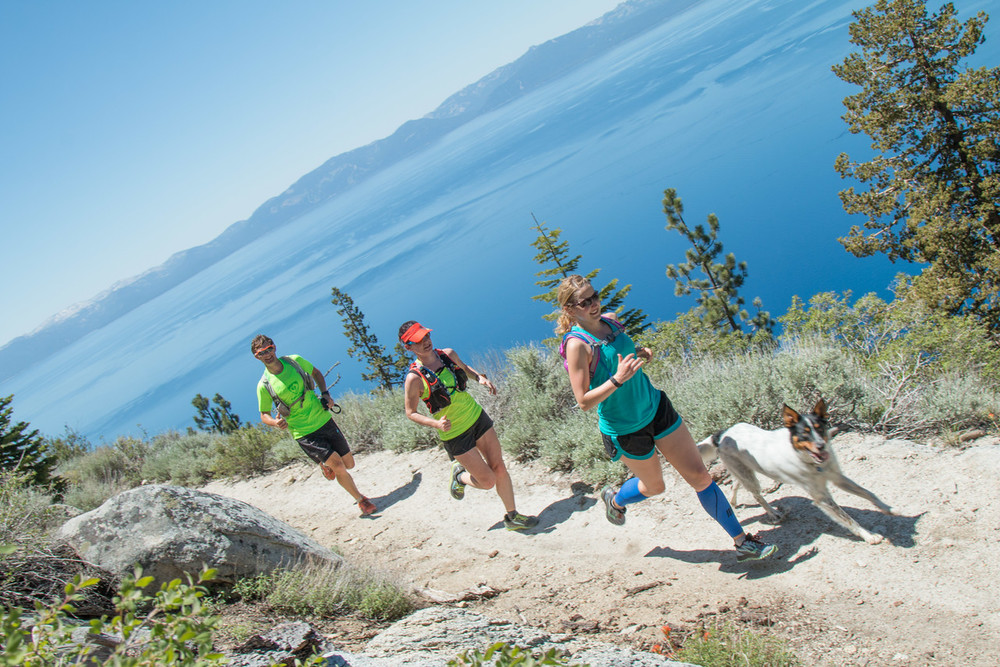 Runners in sync at the 2015 Tahoe Ultra Camp. Photo: Myke Hermsmeyer