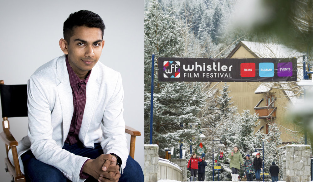 Left: Shant Joshi (courtesy of Jamie Phong, AstroLab) / Right: Whistler Film Festival (courtesy of Tourism Whistler)