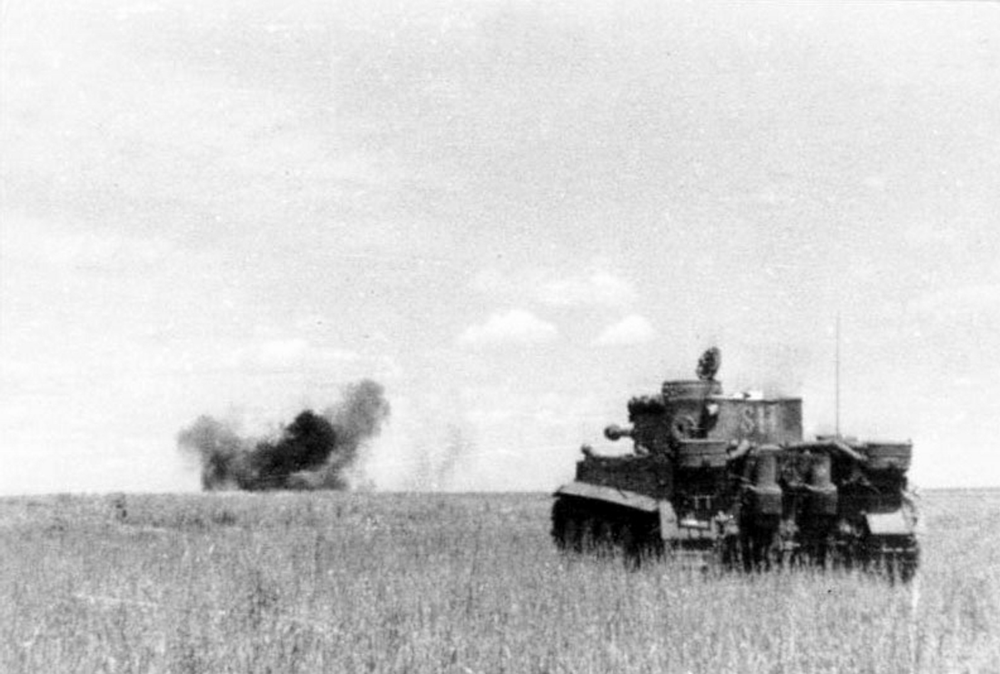 German Tiger engages Soviets during the Kursk Offensive 1943