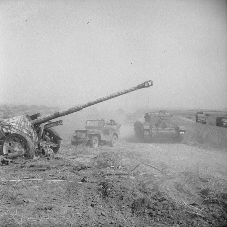 British armour during Operational Totalize and German PAK 43 88mm