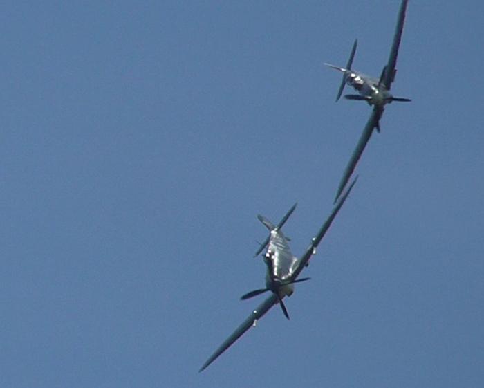 Two Spitfires at Flying Legends 2017