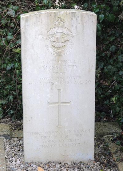 Pilot Officer Michael Gordon Meston Reid, 116060, RAF, died of wounds 7th August 1942