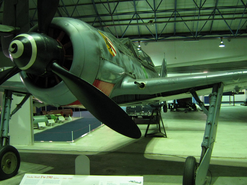 A Focke Wulf Fw190A-8/U-1 of JG54 the Green Heart's now at RAF Hendon Air Museum