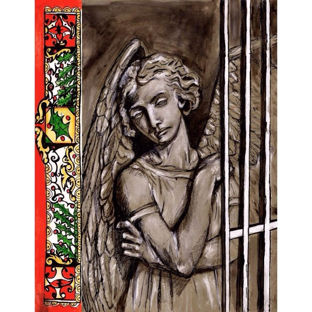 Front of Holiday Card sent to the imprisoned of San Quentin in California & Sing Sing in New York.