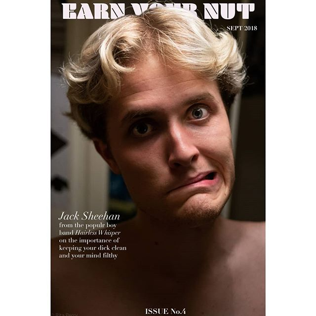Got the honour of getting called back for issue no.4 of the fabulous Earn Your Nut Magazine . Meeting people like @shriekin_ is such an amazing part of the job along side the opportunity to discuss som of Sheehan's out there philosophies. . . . #earnyournut #sexpositive #shriekin #keepyourdickclean #squeakyclean