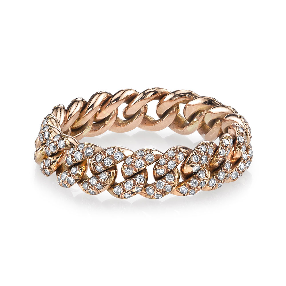 Shay Yellow gold essential link bracelet with white diamonds nuiTL