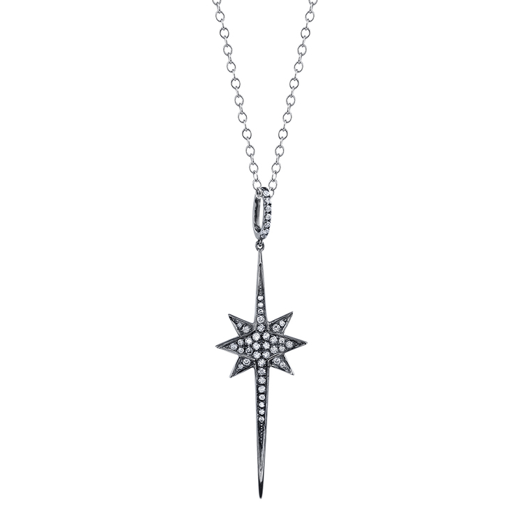 necklace star silver sterling product trendy nova pendant north diva jewelry
