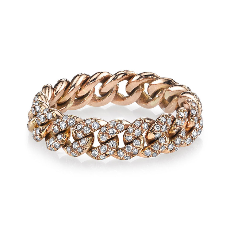 PAVE DIAMOND ESSENTIAL LINK RING