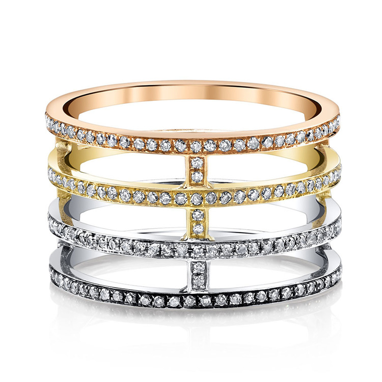 STACKED PAVE DIAMOND ETERNITY RING