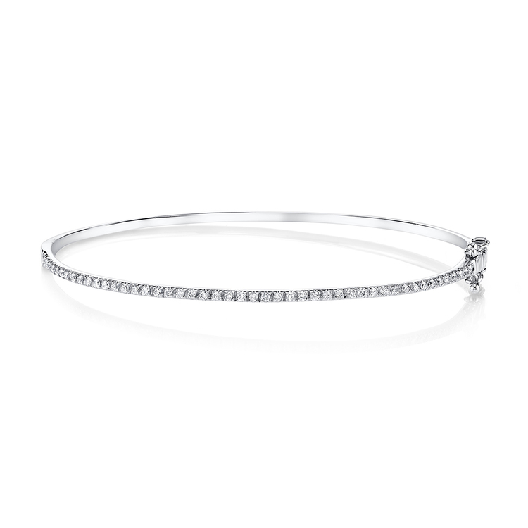ESSENTIAL SINGLE ROW FULL DIAMOND BANGLE