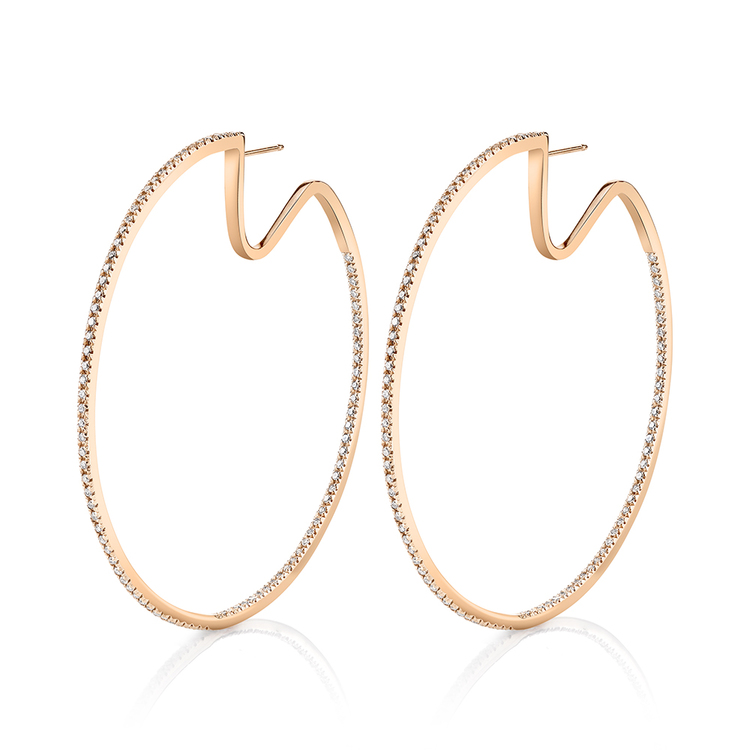 ESSENTIAL PAVE DIAMOND HOOPS