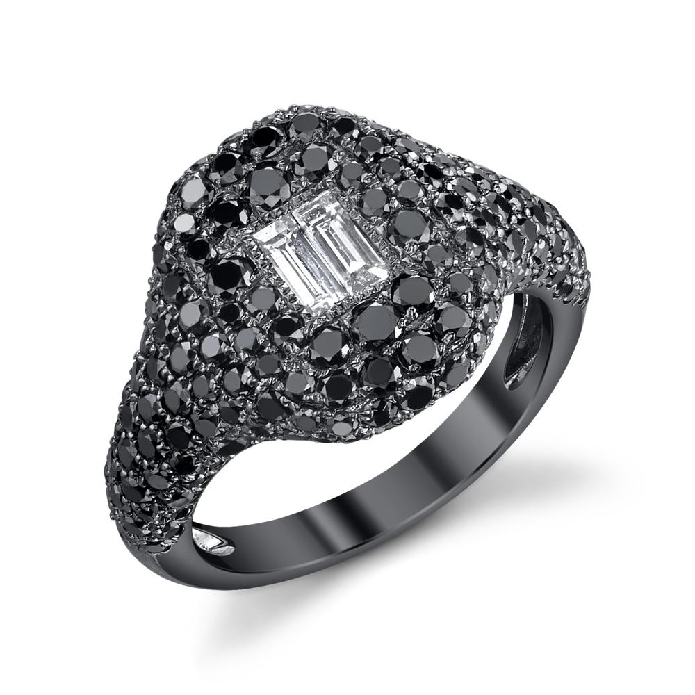 PAVE BLACK DIAMOND PINKY RING Shay Fine Jewelry