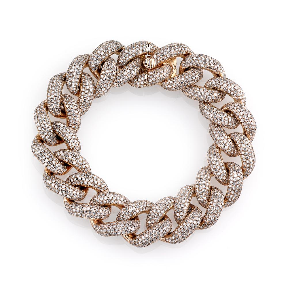 Jumbo pave link bracelet Shay XszFiZUe