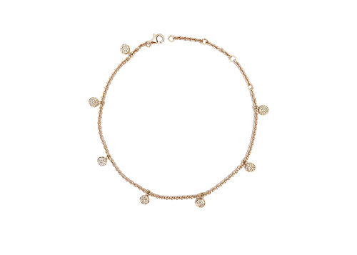 diamond precious metal dp studded women gold non anklet for charms