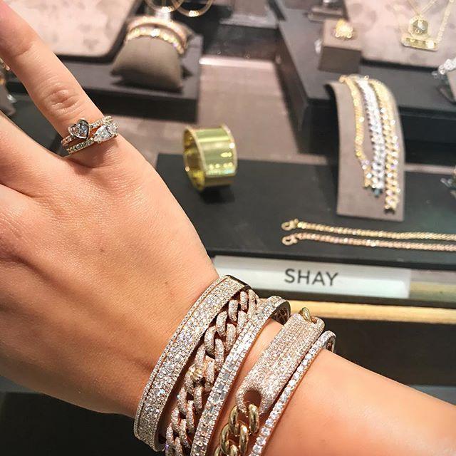Get your S H Ʌ Y favorites @saks 💎💎💎 #ShayJewelry