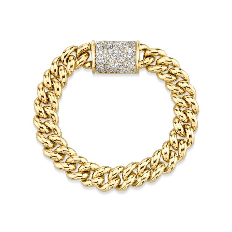 873eb4258e8fb LINK BRACELET W/ PAVÉ DIAMOND CLASP