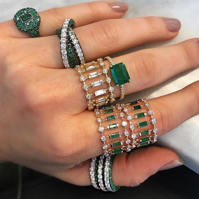 #Emeralds 💚💚💚 @aubadejewelry