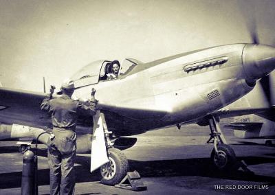 Florene Watson in airplane