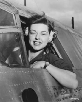 WASP Elizabeth Gardner in a B-26 Marauder