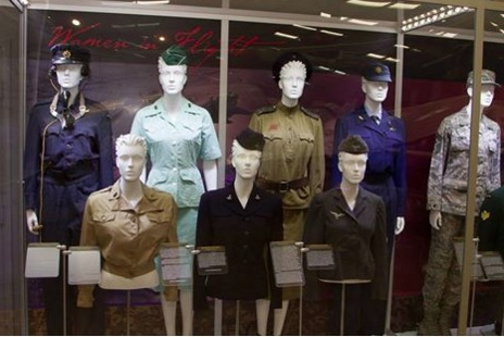 Pima Air & Space Museum inside uniform display